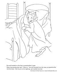 red riding hood fairy tale story coloring pages wolf