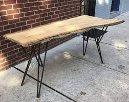 Slab Table Etsy by Vintage Live Edge Console Table Etsy