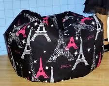 paris glitter eiffel tower bean bag chair made to fit american