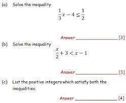 inequalities maths teaching