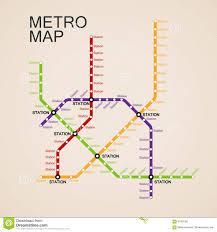 Metro Transit Map by Metro Or Subway Map Design Stock Vector Image 61901374