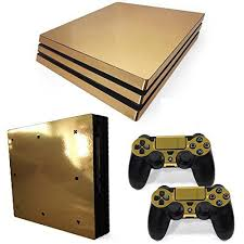 how to change the color of ps4 controller light ps4 pro console and dualshock 4 controller skin set gold color