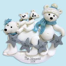 polar family of 4 handmade polymer clay personalized