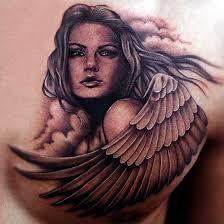 angelic angel tattoo designs