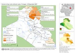 Iraq On World Map Who Cholera In Iraq Update 2