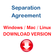 separation agreement download