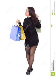 Short Skirts High Heels Woman On High Heels And Short Skirt Is Shopping Stock Images
