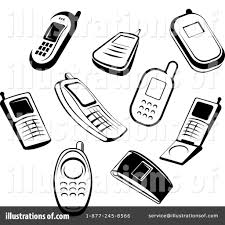 phone clipart illustration pencil and in color phone clipart