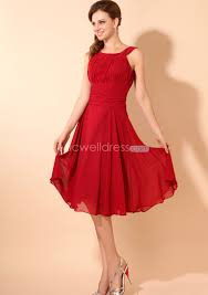 knee length bridesmaid dresses us 99 99 ruched strappy top chiffon knee length bridesmaid