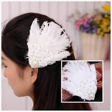 feather hair accessories 2015 vintage feather wedding hair lace bridal
