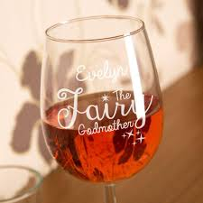 godmother wine glass engraved fairy godmother wine glass keepsake forever bespoke