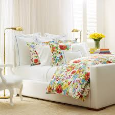 bedroom exciting tufted bed with elegant marimekko bedding and