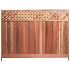wood lattice wall mendocino forest products 6 ft h x 8 ft w redwood lattice top