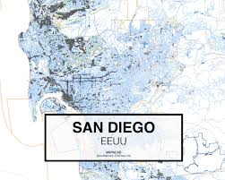San Diego City Map by Download San Diego Dwg Mapacad