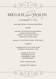 create your own wedding program wedding programs match your colors style free basic invite