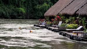 hotels river original floating hotel on river kwai kanchanaburi in thailand