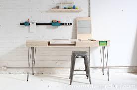 Diy Desk Modern Diy Flip Desk With Pictures