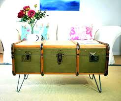 vintage trunk coffee table antique trunk coffee table old trunks as tables luxury top vintage