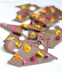edible photo beautiful edible flower chocolate bark for easter or