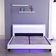 Headboard With Lights Size Bedroom Leather Platform Slat Bed Frame Headboard Led
