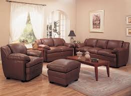 Brown Leather Living Room Set Alondra Leather Living Room Set In Brown Sofas