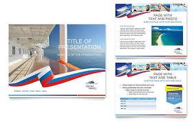 cruise travel powerpoint presentation template design free