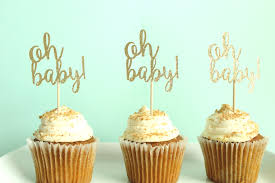 oh baby cupcake toppers baby shower cupcake toppers gender