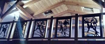 Decorative Iron Railing Panels Ironbychad Com Custom Wrought Iron Railings Steel Gazebos