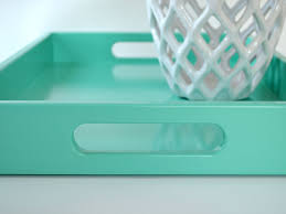 ottoman trays home decor turquoise lacquer tray with handles coffee table tray turquoise