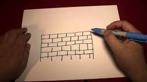 Painting A Wall To Look Like Brick Doodling Drawing A Brick Wall Youtube