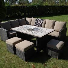 modular dining table and chairs savannah modular dining set large garden dining table outdoor sofa