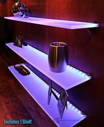 led lighted bar shelves amazon com led lighted floating bar shelf 5 long x 4 5 deep w
