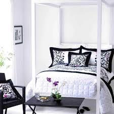 bedroom cute black and white bedroom interior design ideas