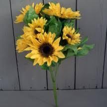 Artificial Sunflowers Artificial Sunflowers Silk Sunflower Stems Arrangements And