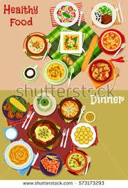popular cuisine bulgarian cuisine popular dishes icon set เวกเตอร สต อก 573173293