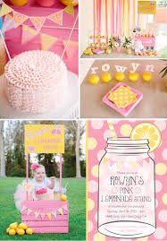 1st birthday party ideas for lemonade birthday party kara s party ideas the place for all