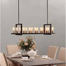 Rectangle Chandeliers For Illuminating Your Kitchen Island This Eye Catching