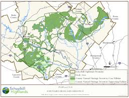 Map Of Bucks County Pa Schuylkill Highlands Region Map Library A World Of Nature In Our