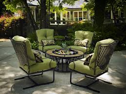 complimenting patio with wrought patio furniture