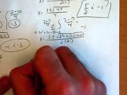 quadratic formula kuta 1 8 youtube