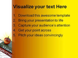 writing education powerpoint backgrounds and templates 1210