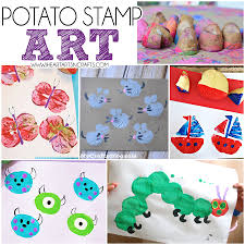 balloon stamping earth day craft for kids i heart arts n crafts