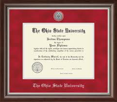 ohio state diploma frame the ohio state diploma frames church hill classics