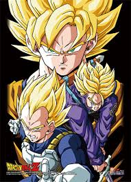 android saga z high end wall scroll saiyans android saga