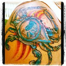 the redskins blue crab tattoo