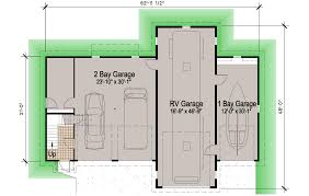 Rv Home Plans Island Rv Garage 45 U0027 Motor Home Southern Cottages