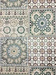 Tile Wallpaper Deco4walls Moroccan Tile Wallpaper Ba2502