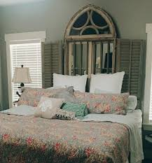 french country bedroom design stripe pattern window treatment