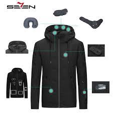 travel jackets images Seven7 mens travel jacket hooded winter warm down duck smart jpg