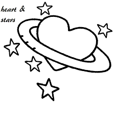 hearts and stars coloring pages for eson me